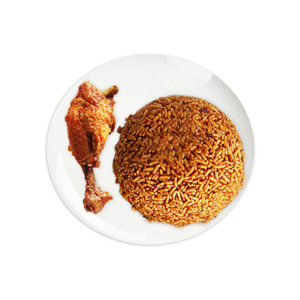 Party Jollof Rice With Chicken