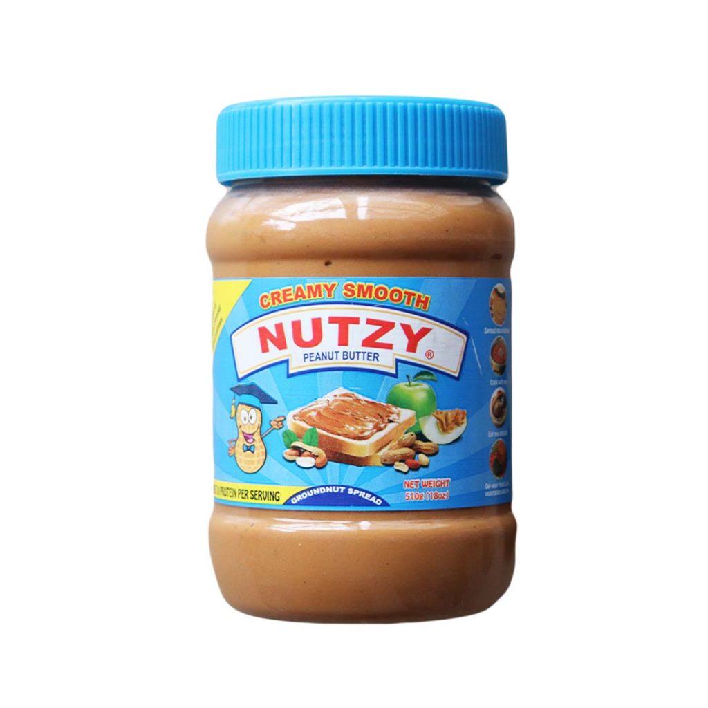 Nutzy Creamy Smooth Peanut Butter 510g