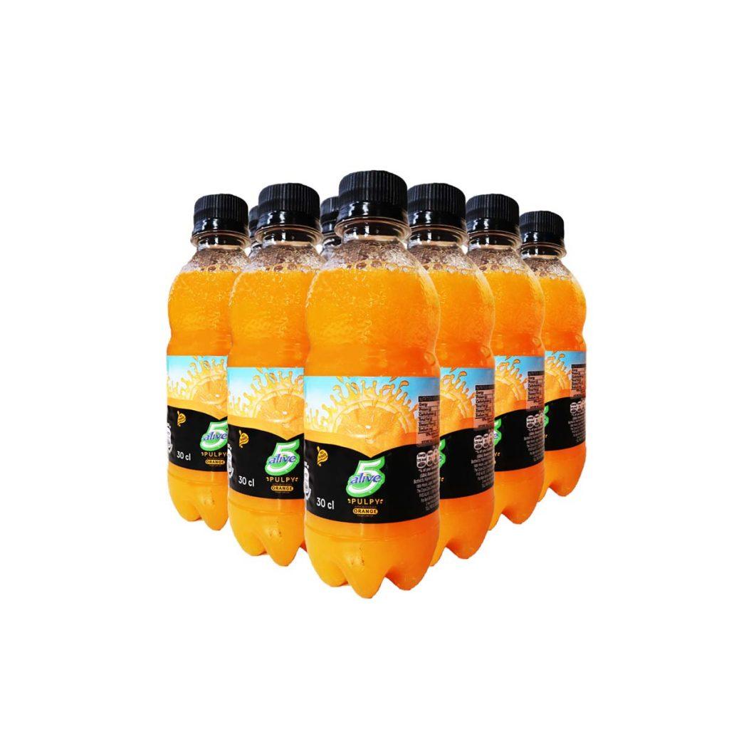 5 Alive Pulpy Orange Fruit Drink 30cl x 12