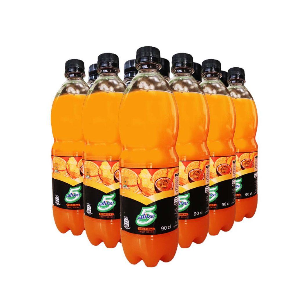 5 Alive Tropical Fruit Drink 90cl x 12