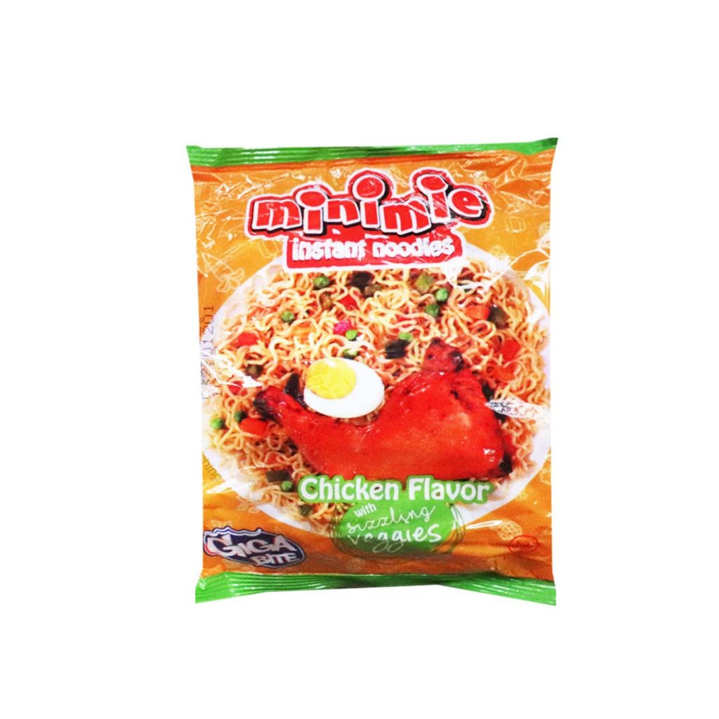 Minimie Instant Noodles Chicken Flavor with Sizzling Veggies 120g