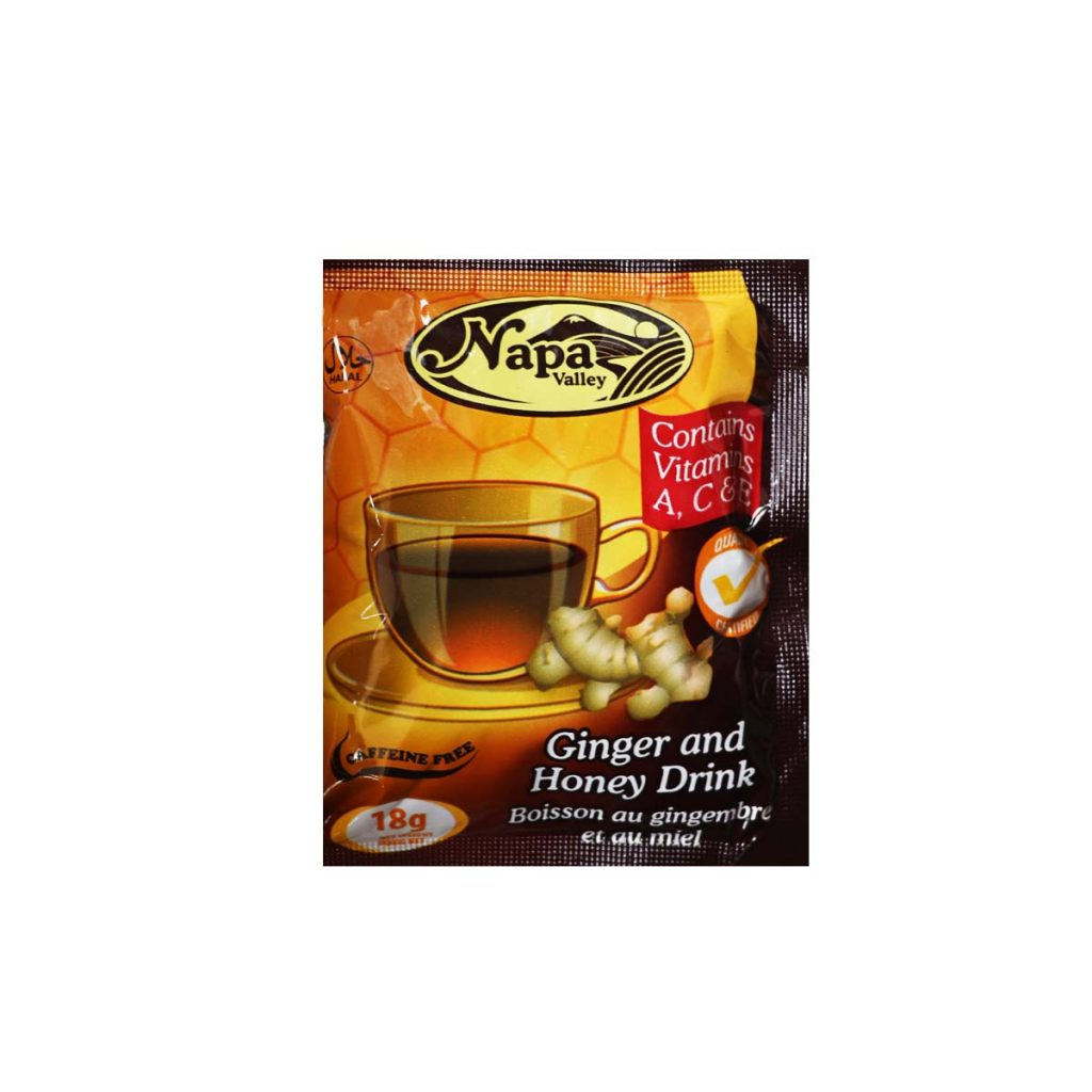Napa Valley Ginger And Honey Drink Powder 18g