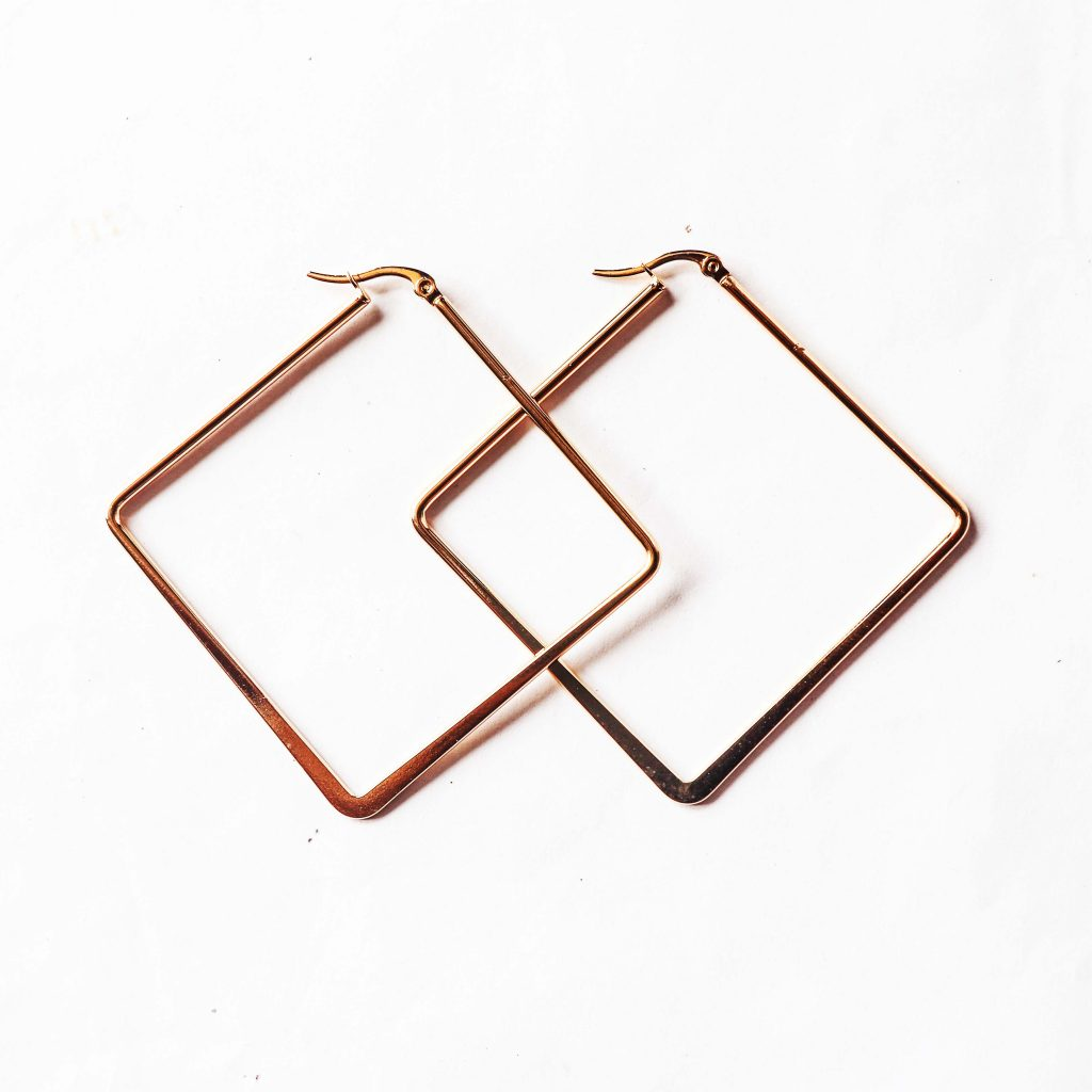 Square Shaped Earring Gold