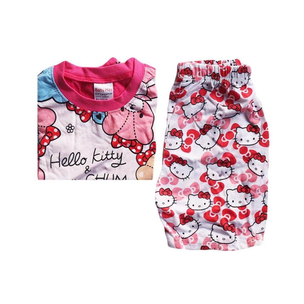 Baby Has Hello Kitty Kids Girls Short Sleeve Pyjamas 4 Years