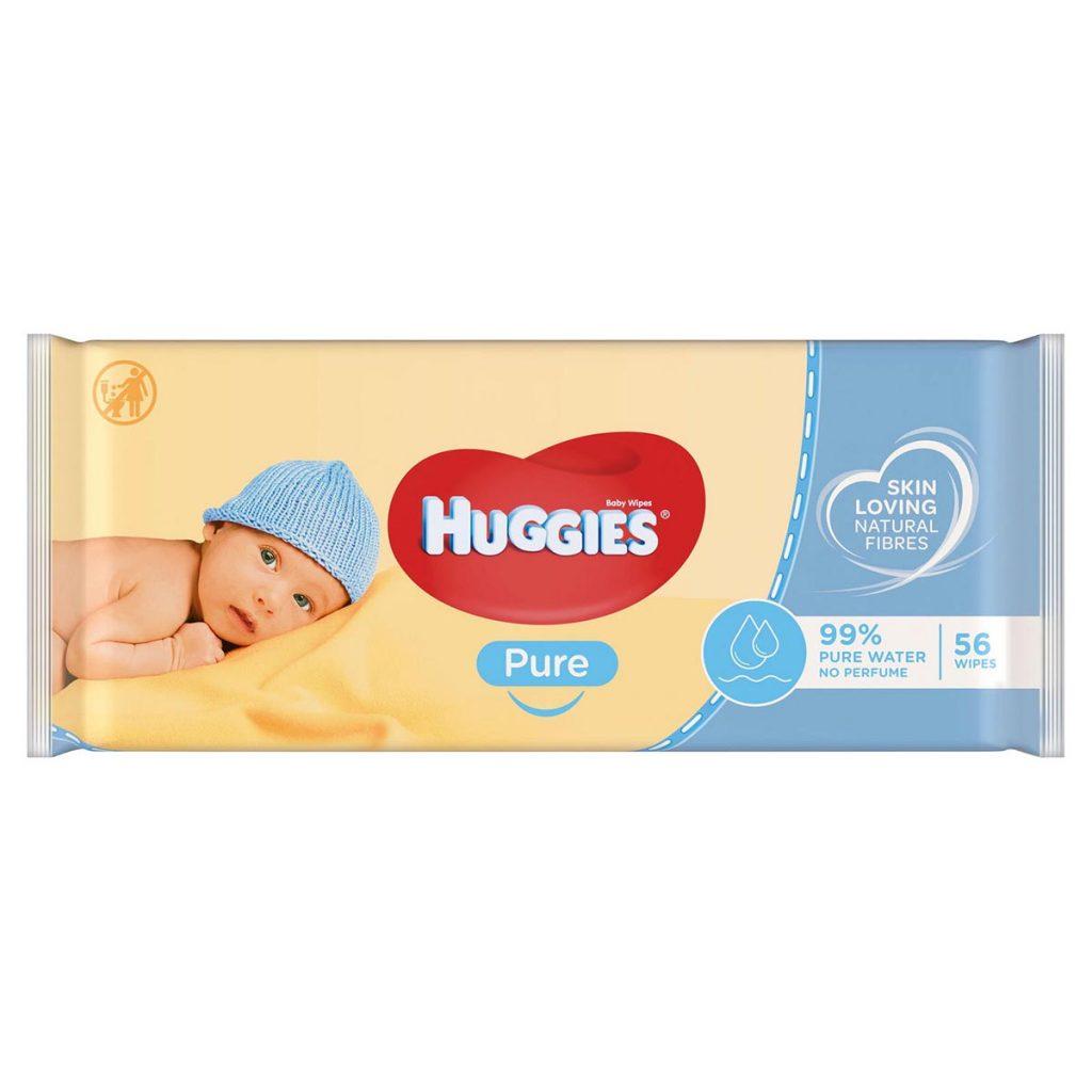 Huggies Pure Baby Wipes x 56