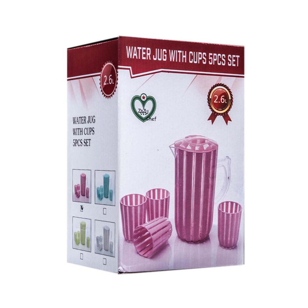 Zazu Chef Water Jug With Cups Set x 5 PCS