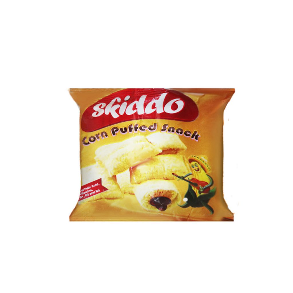 Skiddo Corn Puffed Snack Chocolate Filling 10g