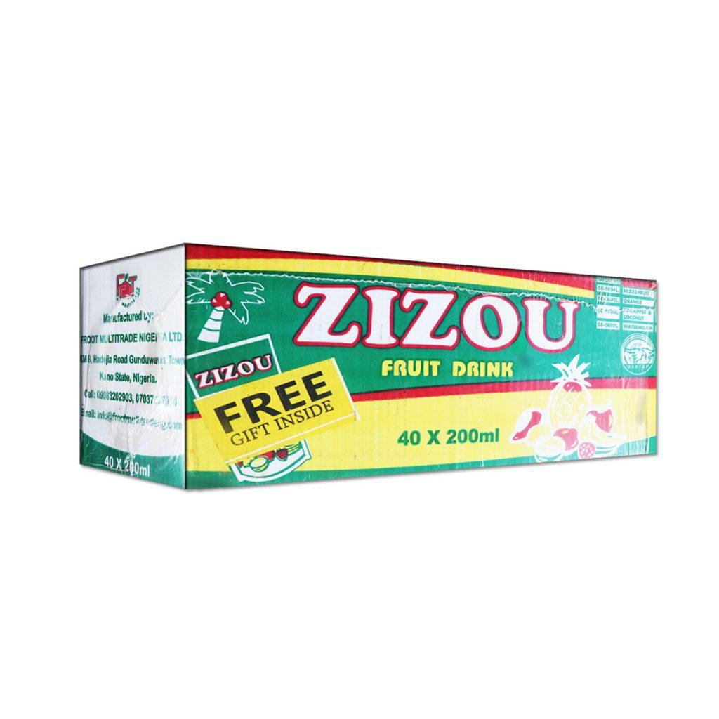 Zizou Fruit Drink Orange 200ml x 40